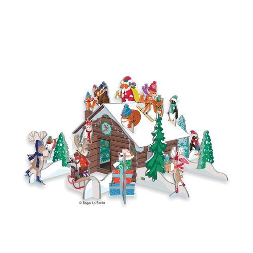 3D Adventskalender Winter Chalet