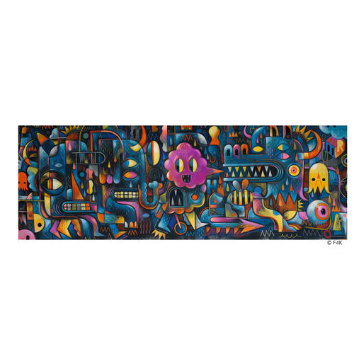 Djeco Puzzle Galerie Monster-Wand 500 Teile