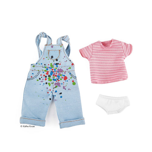 Kruselings Puppe Outfit Chloes Malerei-Latzhose