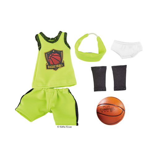 Kruselings Puppe Outfit Joy Basketball-Trikot mit Ball