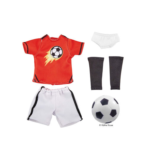 Kruselings Puppe Outfit Michael Fussball-Trikot mit Ball