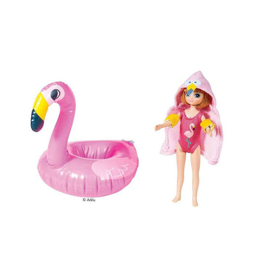 Lottie Puppe Sommer-Pool-Party mit Flamingo