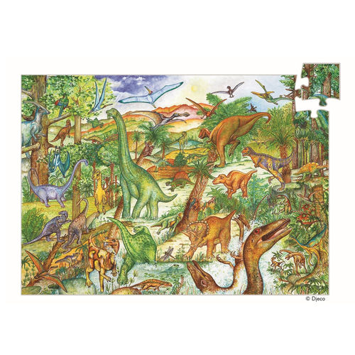Djeco Wimmelpuzzle Dinosaurier 100 Teile