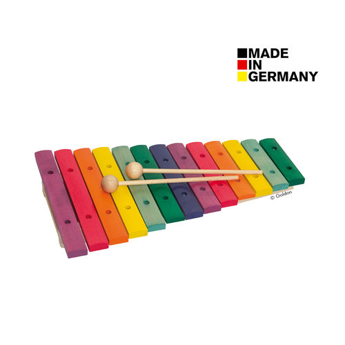 Xylophon aus Holz in Boomwhackers®-Farben